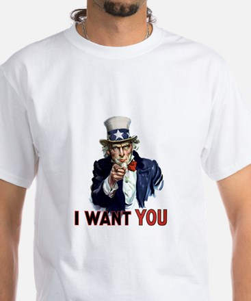 Uncle Sam Wants you White T-Shirt