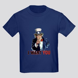 Uncle Sam Wants you Kids Dark T-Shirt