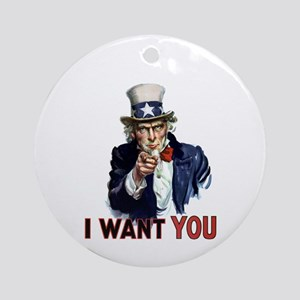 Uncle Sam Wants you Ornament (Round)