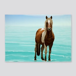 Chincoteague Paint Pony at Surf's E 5'x7'Area Rug