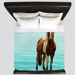Chincoteague Paint Pony at Surf's Edge King Duvet