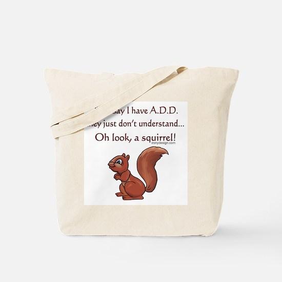 ADD Squirrel Design Tote Bag