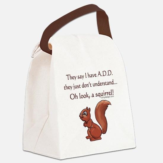 ADD Squirrel Design Canvas Lunch Bag