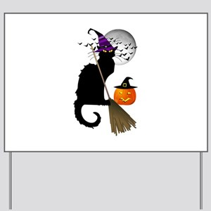 Le Chat Noir - Halloween Witch Yard Sign