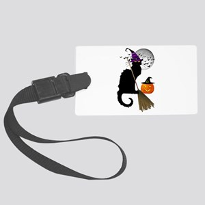 Le Chat Noir - Halloween Witch Large Luggage Tag