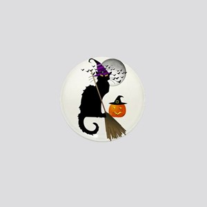Le Chat Noir - Halloween Witch Mini Button