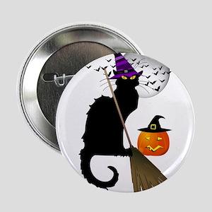 "Le Chat Noir - Halloween Witch 2.25"" Button"