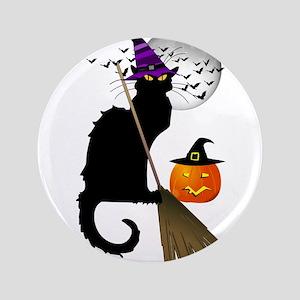 "Le Chat Noir - Halloween Witch 3.5"" Button"