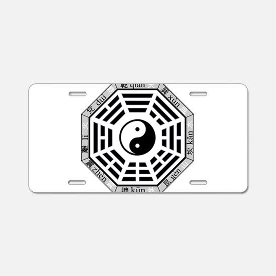 Cute Bagua Aluminum License Plate