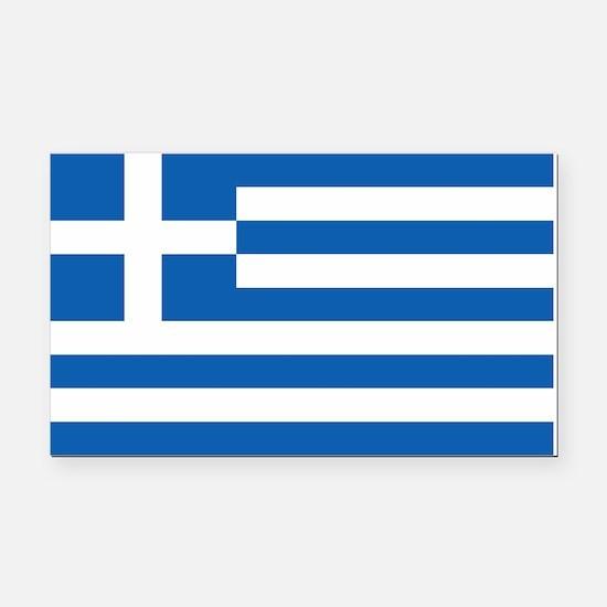 Greece Flag Rectangle Car Magnet