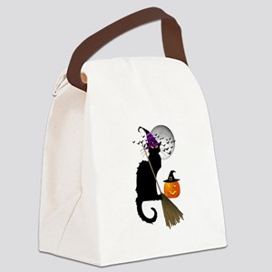 Le Chat Noir - Halloween Witch Canvas Lunch Bag