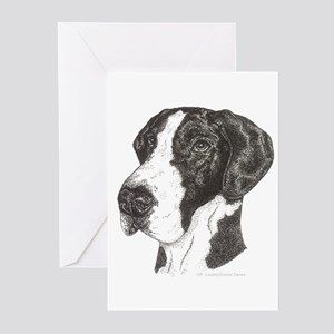 Natural ear Mantle Great Dane indots Cards (10 Pk)
