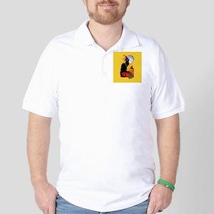 Le Chat Noir - Halloween Witch Golf Shirt