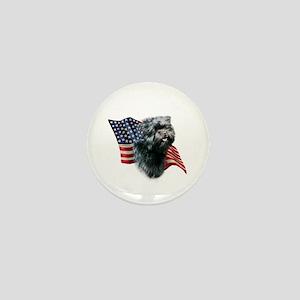 Affenpinscher Flag Mini Button