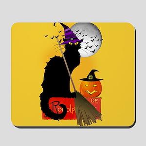 Le Chat Noir - Halloween Witch Mousepad