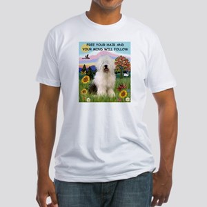 Free Your Hair Old English Sheepdog Fitted T-Shirt