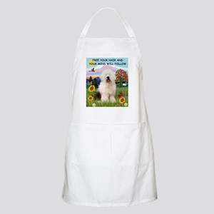 Free Your Hair & Old English Sheepdog  BBQ Apron