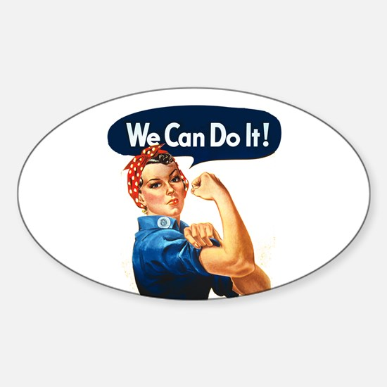 We Can Do It! Oval Decal
