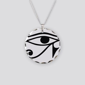 Wadjet Eye of Ra Necklace Circle Charm