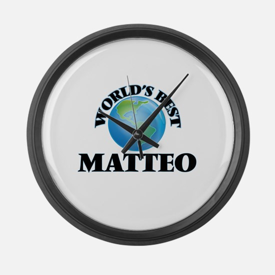 World's Best Matteo Large Wall Clock