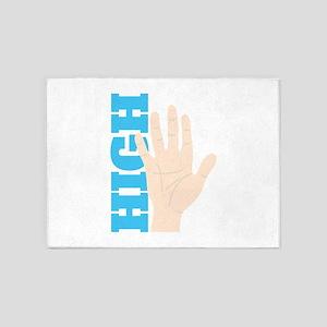 High Five 5'x7'Area Rug