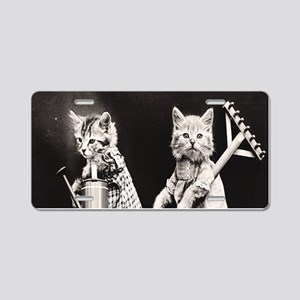 Kittens At Work Aluminum License Plate