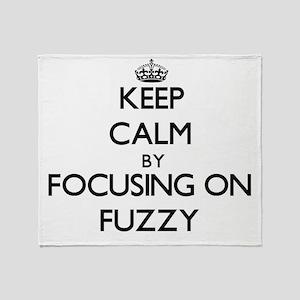 Keep Calm by focusing on Fuzzy Throw Blanket