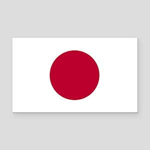 Japan Flag Rectangle Car Magnet