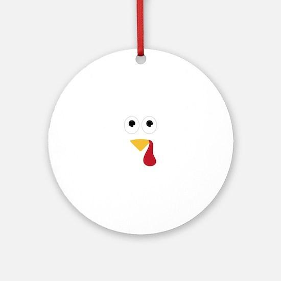 Turkey Face Ornament (Round)