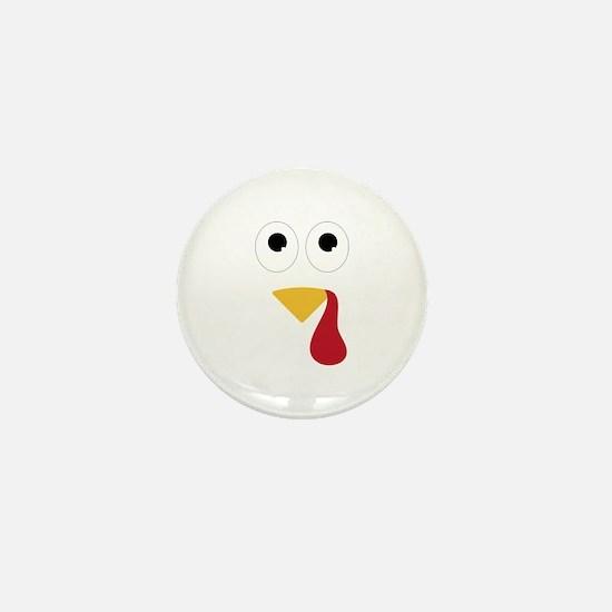 Turkey Face Mini Button (100 pack)