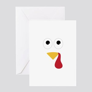 Turkey Face Greeting Cards