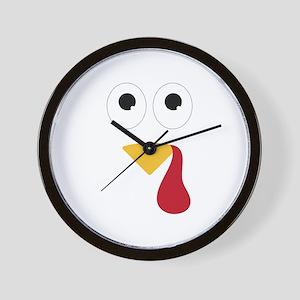 Turkey Face Wall Clock