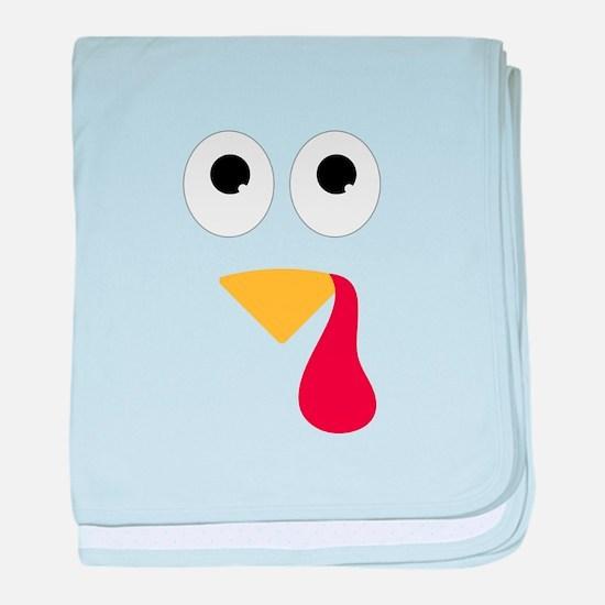 Turkey Face baby blanket