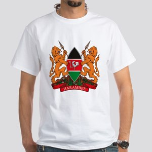 Kenya Coat of Arms White T-Shirt