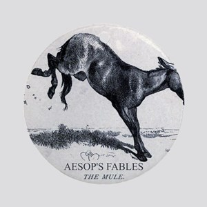 Harrison Weir - The Mule - Aesop - 1867 Round Orna