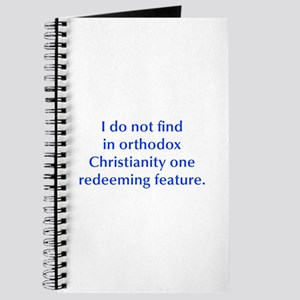 I do not find in orthodox Christianity one redeemi