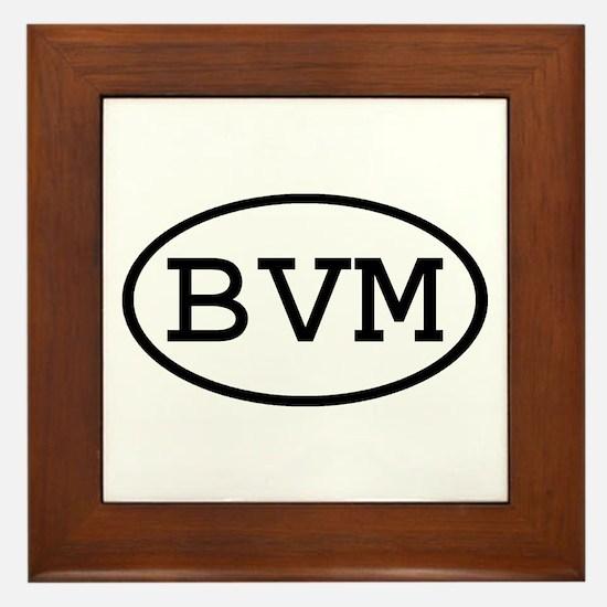 BVM Oval Framed Tile
