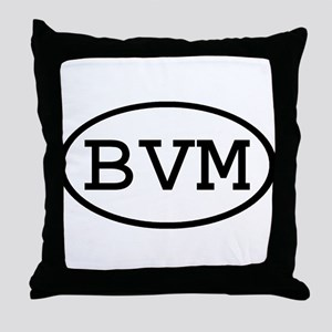 BVM Oval Throw Pillow