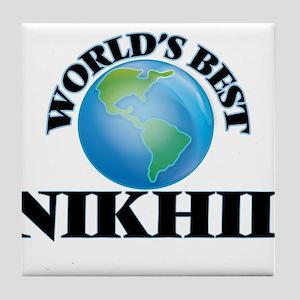 World's Best Nikhil Tile Coaster