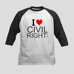 I Love Civil Rights Baseball Jersey