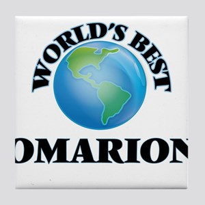 World's Best Omarion Tile Coaster
