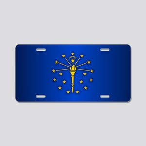 Indiana (v15b) Aluminum License Plate