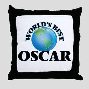 World's Best Oscar Throw Pillow