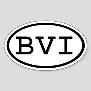 BVI Oval Oval Sticker
