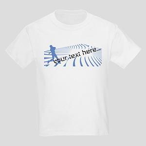 Personalisable Blue Baseball Logo Design T-Shirt