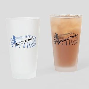 Personalisable Blue Baseball Logo Design Drinking