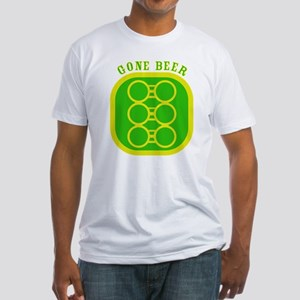 GONE BEER Fitted T-Shirt