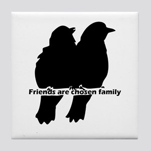 Friends Are Chosen Family Quote Cute Tile Coaster