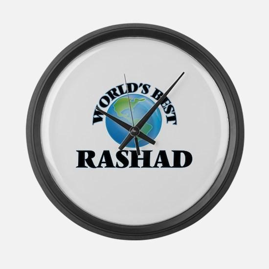 World's Best Rashad Large Wall Clock