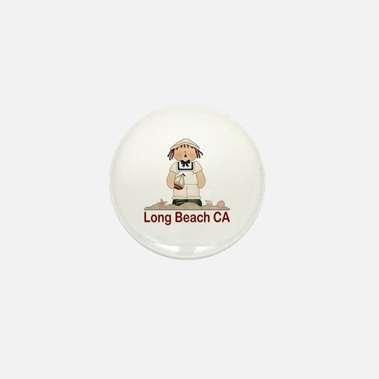 Long Beach Sailor Mini Button